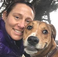 Katherine Doelger with her dog
